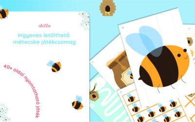 Méhecskés játékok – 40+ oldalas játékcsomag ingyen!