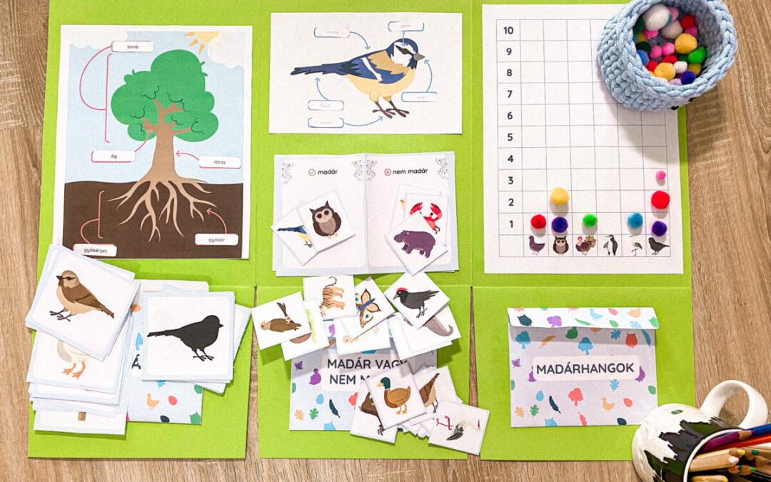 Ötletek madarak és fák napjára – kézműves, logopédia, lapbook